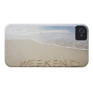 USA, Massachusetts, Word ''weekend'' drawn on iPhone 4 Case-Mate Cases
