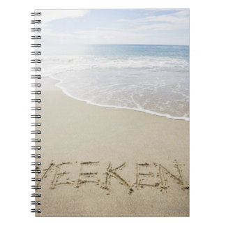 USA, Massachusetts, Word ''weekend'' drawn on Notebook