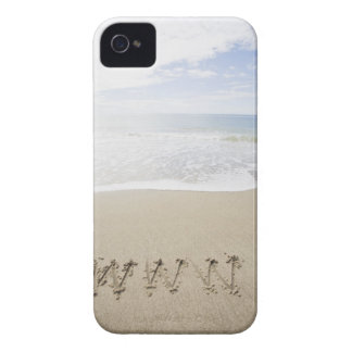 USA, Massachusetts, WWW drawn on sandy beach iPhone 4 Cover
