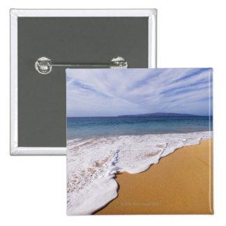 USA, Maui, Wailea, surf and shoreline 15 Cm Square Badge