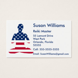 USA meditation American yoga Business Card