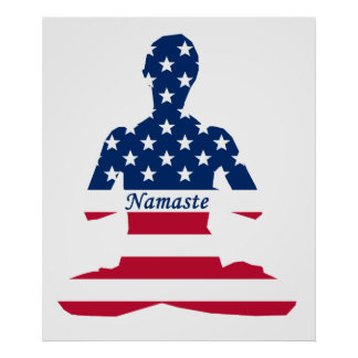 USA meditation American yoga Poster