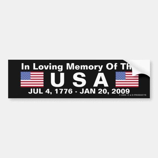 USA Memorial Bumper Sticker