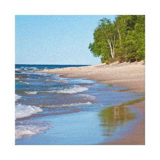 USA, Michigan. 12 Mile Beach Canvas Print