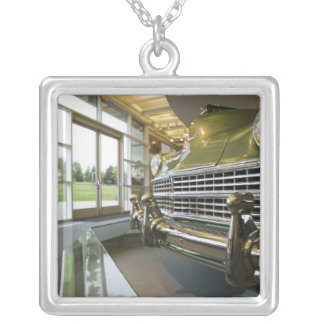 USA, Michigan, Auburn Hills: Walter P. Crysler Silver Plated Necklace