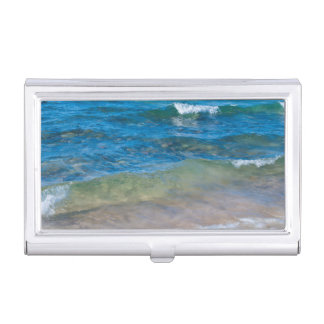USA, Michigan. Clear Waters Of Lake Superior Business Card Holder
