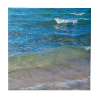 USA, Michigan. Clear Waters Of Lake Superior Small Square Tile