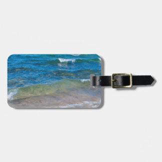 USA, Michigan. Clear Waters Of Lake Superior Travel Bag Tags