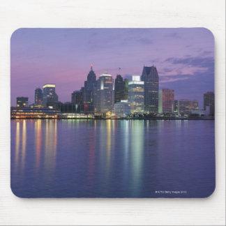 USA, Michigan, Detroit skyline, night Mouse Mat