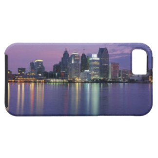 USA, Michigan, Detroit skyline, night Tough iPhone 5 Case