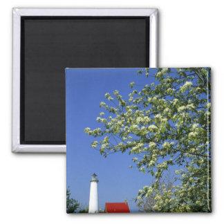 USA, Michigan, East Tawas. Tawas Lighthouse with Magnet