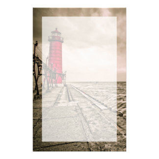 USA, Michigan, Grand Haven Lighthouse Stationery
