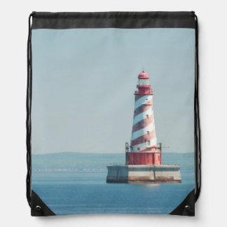 USA, Michigan, Great Lakes, Lake Michigan Drawstring Bag