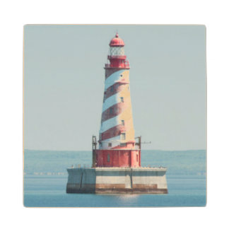 USA, Michigan, Great Lakes, Lake Michigan Wood Coaster