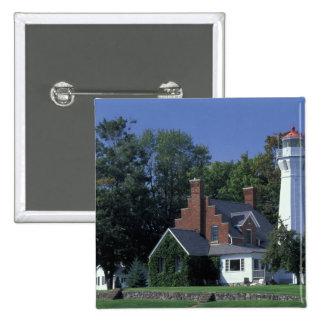 USA, Michigan, Lake Huron. Port Sanilac 15 Cm Square Badge