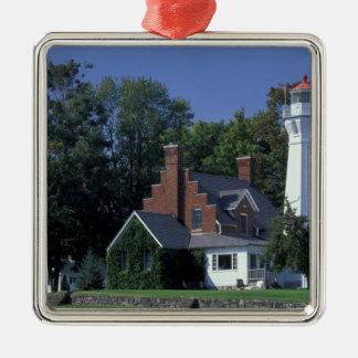 USA, Michigan, Lake Huron. Port Sanilac Christmas Ornament