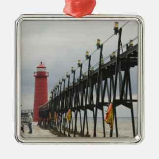 USA, Michigan, Lake Michigan Shore, Grand Haven: Christmas Ornament