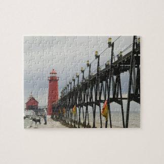 USA, Michigan, Lake Michigan Shore, Grand Haven: Jigsaw Puzzle