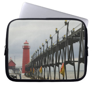 USA, Michigan, Lake Michigan Shore, Grand Haven: Laptop Sleeve