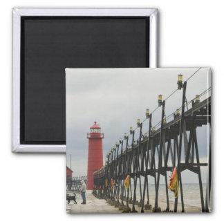 USA, Michigan, Lake Michigan Shore, Grand Haven: Magnet