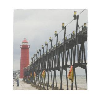 USA, Michigan, Lake Michigan Shore, Grand Haven: Notepad
