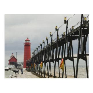 USA, Michigan, Lake Michigan Shore, Grand Haven: Postcard