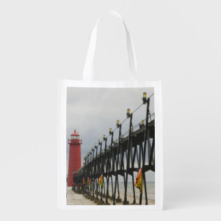 USA, Michigan, Lake Michigan Shore, Grand Haven: Grocery Bags