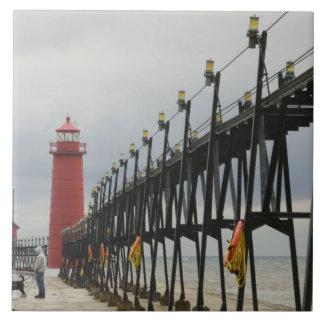 USA, Michigan, Lake Michigan Shore, Grand Haven: Tile