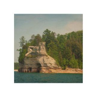 USA, Michigan. Miner's Castle Rock Formation 2 Wood Prints