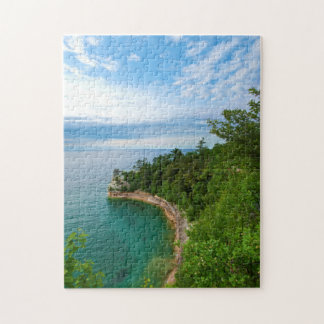 USA, Michigan. Miner's Castle Rock Formation 3 Jigsaw Puzzle