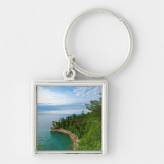 USA, Michigan. Miner's Castle Rock Formation 3 Key Ring