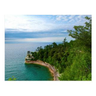 USA, Michigan. Miner's Castle Rock Formation 3 Postcard