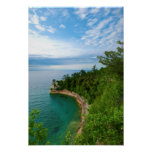 USA, Michigan. Miner's Castle Rock Formation 3 Poster