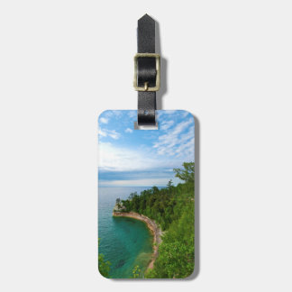 USA, Michigan. Miner's Castle Rock Formation 3 Tags For Luggage