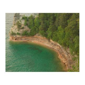 USA, Michigan. Miner's Castle Rock Formation 4 Wood Prints