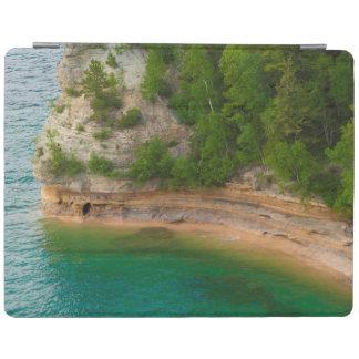 USA, Michigan. Miner's Castle Rock Formation iPad Cover