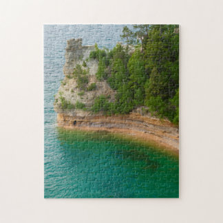 USA, Michigan. Miner's Castle Rock Formation Jigsaw Puzzle