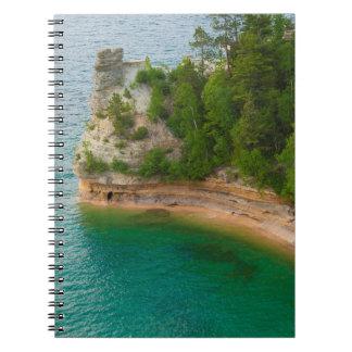 USA, Michigan. Miner's Castle Rock Formation Note Books