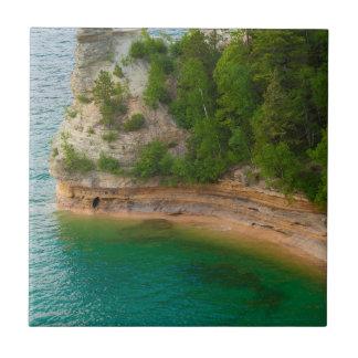 USA, Michigan. Miner's Castle Rock Formation Tile