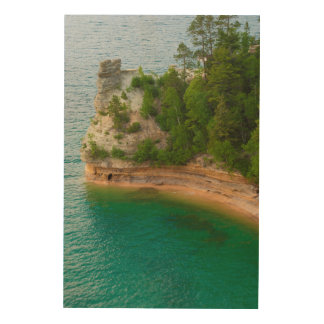 USA, Michigan. Miner's Castle Rock Formation Wood Prints