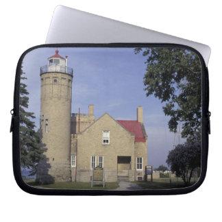 USA, Michigan Old Mackinac Point Lighthouse Laptop Sleeve