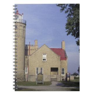 USA, Michigan Old Mackinac Point Lighthouse Notebook