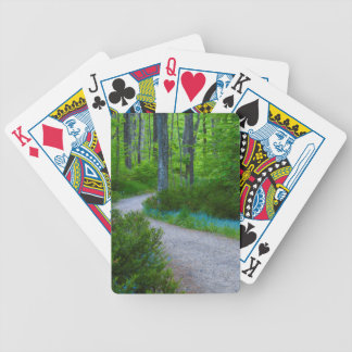 USA, Michigan. Path Thru The Woods Bicycle Playing Cards