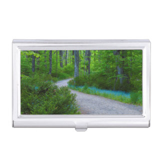 USA, Michigan. Path Thru The Woods Business Card Holder