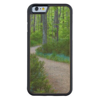 USA, Michigan. Path Thru The Woods Carved Maple iPhone 6 Bumper Case