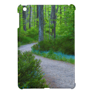 USA, Michigan. Path Thru The Woods iPad Mini Covers