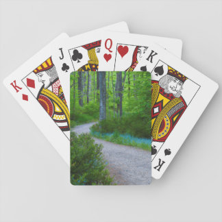 USA, Michigan. Path Thru The Woods Playing Cards