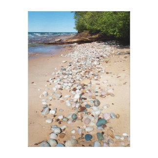 USA, Michigan. Pebbles Along 12 Mile Beach Canvas Print