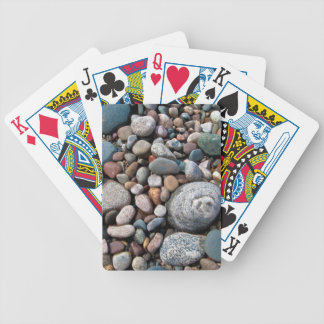 USA, Michigan. Polished Pebbles On The Shore Bicycle Playing Cards