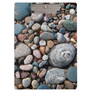 USA, Michigan. Polished Pebbles On The Shore Clipboard